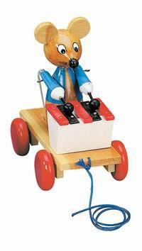 "Каталка ""мышка с ксилофоном"", Bino"