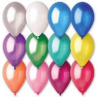 """Надувные шары 9"""", металлик, 100 штук, Веселый праздник"""