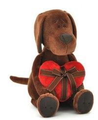"""Мягкая игрушка """"пёс барбоська с сердцем"""", 25 см, Orange exclusive"""