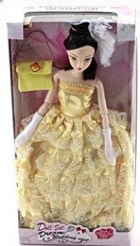 """Кукла шарнирная """"jenny"""" (в золотистом платье), Shantou Gepai"""