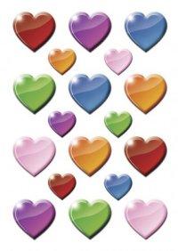 """Наклейки """"цветные сердечки"""", Herma"""