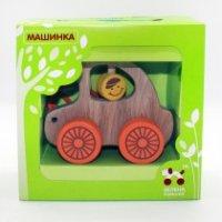 """Каталка """"машинка"""", Зеленая игрушка"""