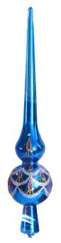 """Елочное украшение """"макушка"""", 25 см (цвет: синий), Новогодняя сказка"""