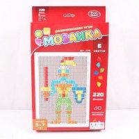 Мозаика (треугольные, квадратные фишки), 220 фишек, Play Smart (Joy Toy)