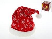 """Колпак новогодний музыкальный """"санта клаус"""" (красный со снежинками), Monte Christmas"""