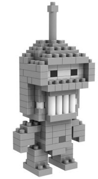 "Конструктор diamond block ""робот бендер"" (150 деталей), LOZ"