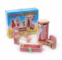 """Набор мебели для кукол """"ванная комната"""", Мир деревянных игрушек (МДИ)"""