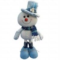 Снеговик с большим лицом и в шляпе (30 см), арт. е60120, Snowmen