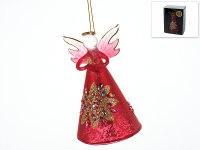 """Украшение подвесное """"красный цветок/ангел"""", высота 12 см, Monte Christmas"""