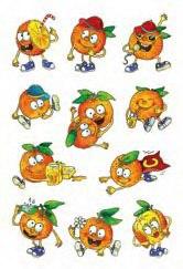 """Наклейки """"апельсиновый аромат"""", Herma"""