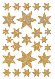"""Наклейки """"новый год. искристые звезды"""", Herma"""