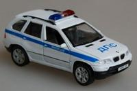 Модель машины 1:34-39 bmw x5, милиция дпс, Welly