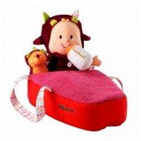 Мягкая куколка в переноске с ежиком, Lilliputiens
