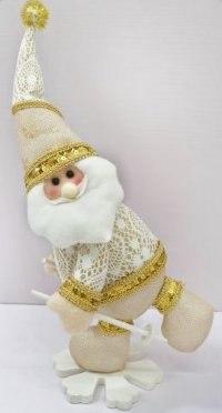 """Кукла """"дед мороз на снежинке"""", 35 см (золотистая), Новогодняя сказка"""