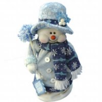 Снеговик с метлой (33 см), арт. е60122, Snowmen