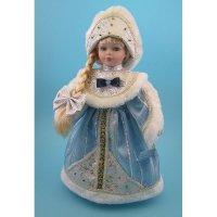 """Фигурка """"снегурочка в голубой шубке, кокошнике с меховой опушкой"""", арт. е94750, Snowmen"""