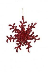 """Елочное украшение """"снежинка"""", красное, Christmas House"""