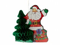 """Украшение подвесное """"санта с ёлкой"""", 33x16x38 см, Monte Christmas"""