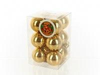 """Набор новогодних шаров """"золотые брызги"""", глянцевое золото, диаметр 3 см (12 штук), Monte Christmas"""