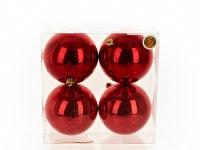 """Набор новогодних шаров """"красные брызги"""", диаметр 12 см (4 штуки), Monte Christmas"""