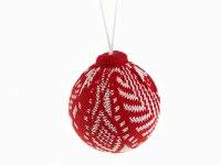 """Шар новогодний """"пряжа"""", красный, диаметр 8 см, Monte Christmas"""