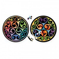 "Круглые пазлы  ""double. бутон"" (диаметр 18,5 см), Curiosi"