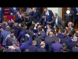 Violent brawl breaks out in Ukraine parliament, PM Yatsenyuk manhandled by MP - no comment