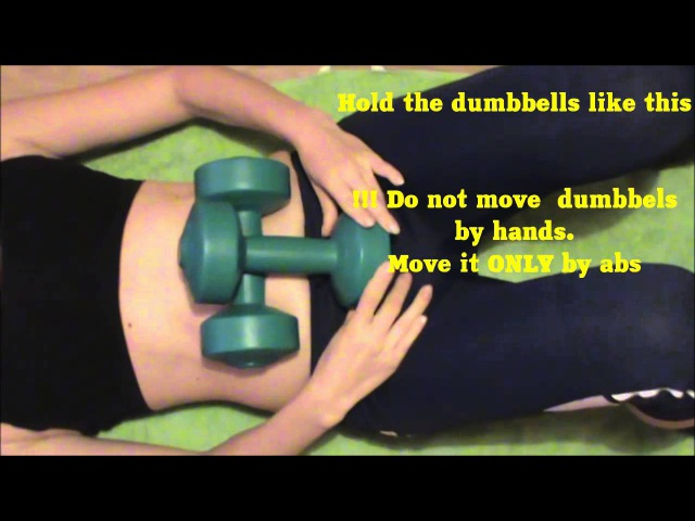 Dumbbells abs for Belly Dance traning.Easy Dansse Lesson by EHABY.