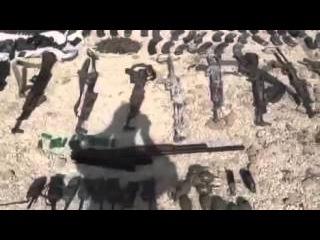 Сирия. Трофеи, захваченные у боевиков ИГИЛ отрядами народной самообороны YPG