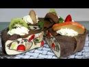 ТОРТ КОЖАНЫЙ Блинный ТОРТ МУСС с фруктами ОЧЕНЬ ВКУСНЫЙ Как приготовить Муссовый Торт С АГАР АГАР