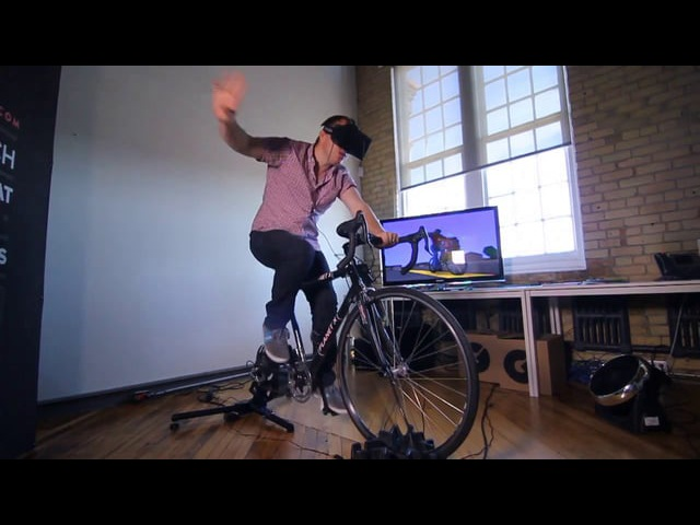 Oculus Rift Kinect KickR = Our Homage to Paperboy PaperDude VR