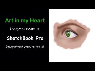Рисуем глаза в СкетчБук Про (взгляд 3/4) / Drawing eyes in SketchBook Pro (3/4 look)