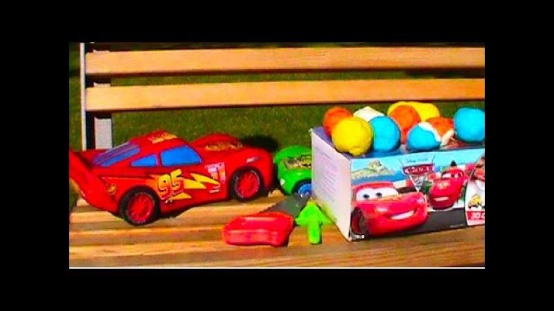 Тачки Молния Киндер сюрприз Плэй До тесто игрушки Doh कारें खिलौने लाइटन ...