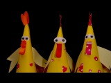Kids easter crafts. Easter Chickens. Paper craft for kids EASY PAPER IDEAS FOR KIDS