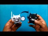 Origami 3D Blanco y Negro
