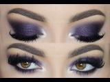Фиолетовый макияж на вечеринку