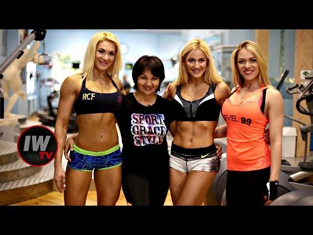Тренировка лучшей команды бикинисток Ивета Стаценко