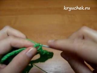 Вязание крючком. Прихватка -Ягодка-,-Клубничка-. Часть 1(Crochet.Potholder -Berry-,-Passion- Part 1)
