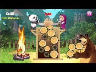 Маша и медведь - Веселая лесопилка. Развивающие игры для детей. Смотреть про Машу