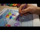Фиксики раскрашивают оживающую раскраску Arnimate. Fixiki paint and play.