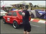 Fiat 126p 6,3l V8 vs VW Golf 3 Turbo 1/4 Meile