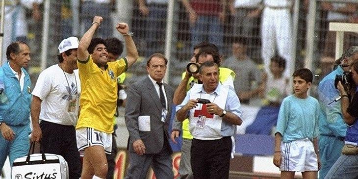 maradona camisa brasileira 1990