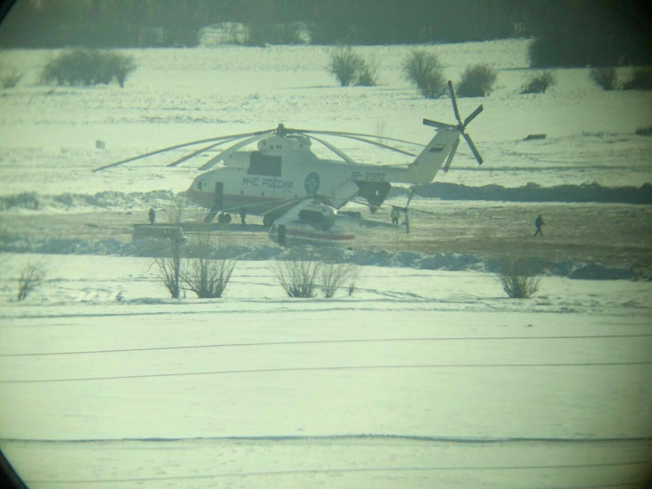 Фотофакт: в Якутск прилетел самый большой серийно выпускаемый вертолет в мире