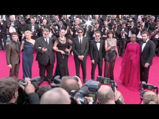 Sienna Miller, Jake Gyllenhaal and the jury at the opening ceremony of the Cannes Film Festival 2015