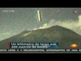 Incredible UFO Flies Into Volcano 2012 HD