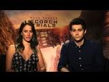 Dylan O'Brien &amp Kaya Scodelario help