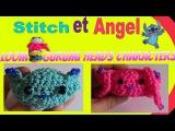 Стич из резинок лумигуруми Tuto Rainbow Loom: Têtes de Stitch et Angel (Loomi