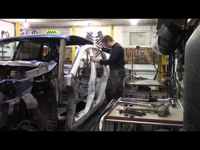 Кузовной ремонт. Ставим боковину на Трибеку. предыдущая серия. Body repair.
