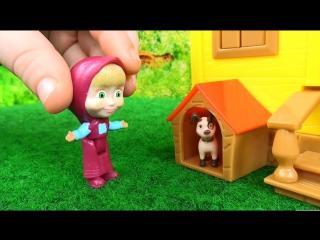 Маша и Медведь Игровой набор Домик Маши из мультфильма распаковка играем Masha and the Bear