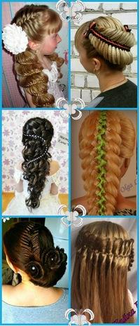 Плетение оригинальных кос для детей